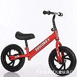 JYZ Marco de Acero al Carbono para Bicicleta de Equilibrio de 12 Pulgadas, sin Bicicleta de Entrenamiento con Pedales, Adecuado para niños de 2 a 6 años, Ventas directas de fábrica