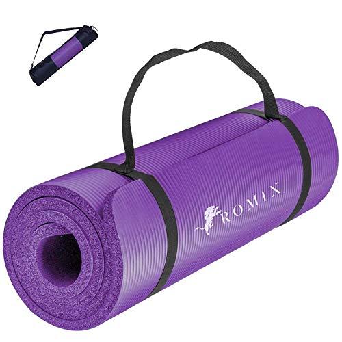 ROMIX Esterilla Yoga Antideslizante, 15MM Alta Densidad Gruesa y Suave Ecológica