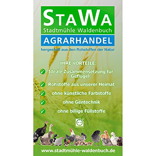 StaWa VitalMix Hühnerfutter Geflügelkörnerfutter Körnerfutter 25kg !!!GVO frei!!! mit Leinsaat & Hanfsaat + Oregano - 4