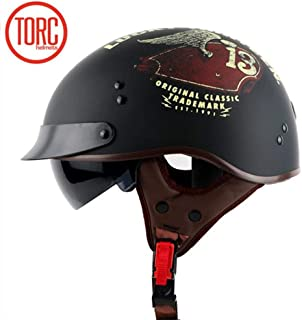 TORC Retro-Integralhelm T105CAP22 gl/änzend, Schwarz, Captain, S