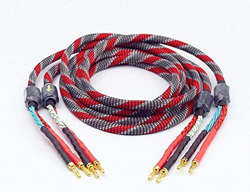 1 par de oxígeno Libre de Cobre Cable de Altavoz de Altavoz...