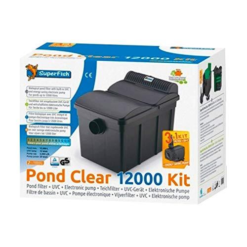 SuperFish PondClear Teichfilter Set 12000 mit 13W UVC +Pumpe