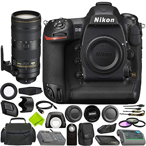 Nikon D5 DSLR Camera (Body Only, Dual XQD Slots) + Nikon AF-S NIKKOR 70-200mm f/2.8E FL ED VR Lens Bundle