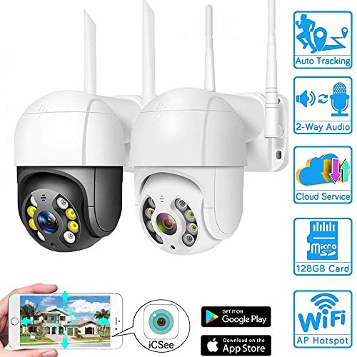 Crazy rice WiFi PTZ Kamera 1080p HD Home Überwachungskamera, High-Speed-Kuppel drahtlose wasserdicht eisfreie ONVIF IP CCTV Kamera, innen | Outdoor-Dual-Use 1080P(12V 2A)-64GB