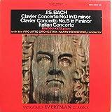 バッハ ピアノ協奏曲第1番、第5番、イタリア協奏曲 M. Katz, H. Newstone, Pro Arte Orchestra Of London : Bach Clavier Concertos
