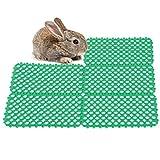 GOTOTOP Paquete de 5 Alfombrillas de Conejo para jaulas, Alfombrillas para pies de corralito de Conejo, Alfombrilla para Agujeros de Jaula de Animales pequeños para Conejo, Conejillo de Indias(Verde)