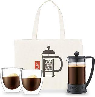 ボダムジャパン 【正規品】ボダム コーヒーメーカー、グラス、バッグセット ブラック フレンチプレスセット BRAZIL/PAVINA K10948-01J-2