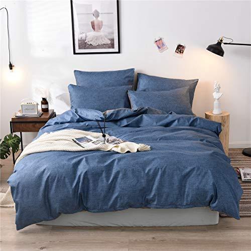 Cupocupa Bettwäsche 155x220 cm 2 TLG; Winter Warme Bettwäsche Blau & Grau Aesthetic Muster 100% Weiche Angenehme Mikrofaser;Blau Bettbezug+Kissenbezug 80x80 (Blau 155 2T)