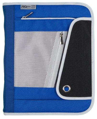Mead 1-1/2Inch Zipper Binder, 3 Ring Binder, Heavy Duty, PRO Platinum, Blue/Black (72864)