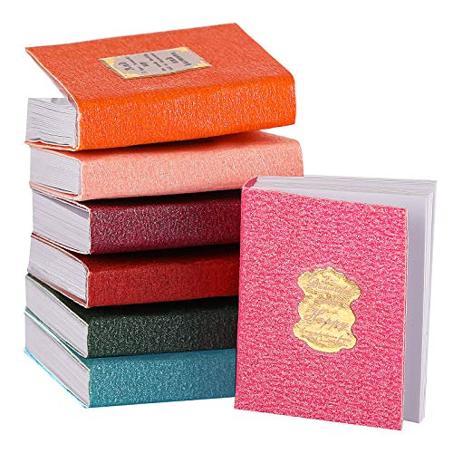 Sumind 16 Libros de Casas de Muñecas en Miniatura Libros de Miniaturas Atemporales Accesorios de Decoración de Casa de Muñecas Modelo de Cuaderno Mini Libros (Estilo Colorido)
