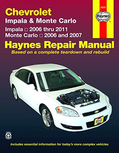 Haynes Chevrolet Impala & Monte Carlo: All Chevrolet Impala Models 2006 Through 2011, All Chevrolet Monte…