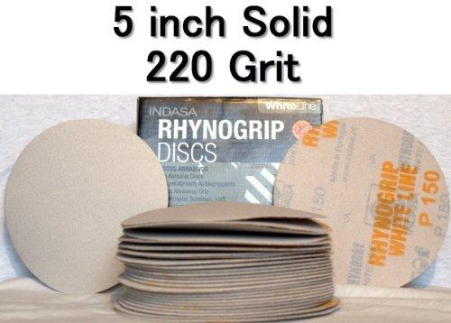 "Rhynodry Sanding Discs 5/"" Sterate Self-Adhesive PSA 400 Grit Roll of 100"