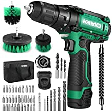 Cordless Drill/Driver Kit, 48pcs Drill Set w/Lithium-Ion Battery Brushes Tape Measure - 12V Max Drill 280 In-lb Torque, 18+1 Metal Clutch, 3/8