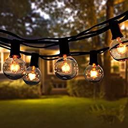 Guirlande Lumineuse Intérieur et extérieur, Guirlande Guinguette de 30+5 Ampoules étanche 11M Blanc Chaud ampoule…