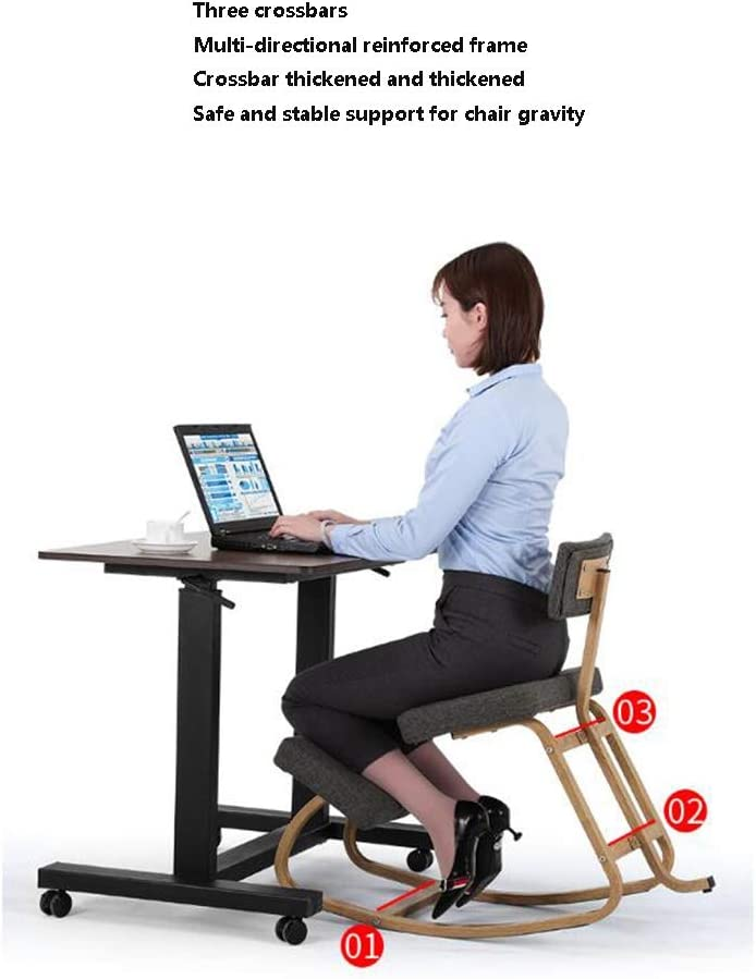 tabouret WFF Ergonomique Genoux Chaise, Posture Correction de Genou, Convient for Seat Utilisation inclinables Maison et Le Bureau Peut améliorer Votre Posture- (Color : Blue) Pink