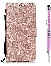 Grandoin Funda para Samsung Galaxy S20, PU Cuero Case Cuerpo Completo Carcasa Protectora Cartera Soporte Plegable Función Fundas Case Cover (Oro Rosa)