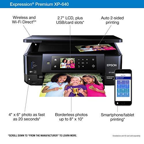Epson XP-640 Wireless Color Photo Printer 2.7, Amazon Dash Replenishment Ready Photo #4