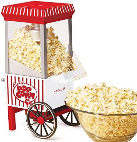 Nostalgia OFP521 Vintage Healthy Hot Air Tabletop Popcorn Maker Makes 12 Cups with Kernel Measuring product image