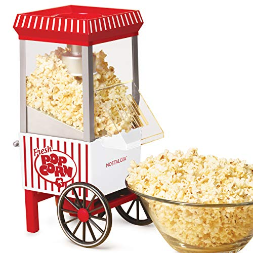 Nostalgia OFP521 Vintage Healthy Hot-Air Tabletop Popcorn Maker, Makes 12 Cups, with Kernel...