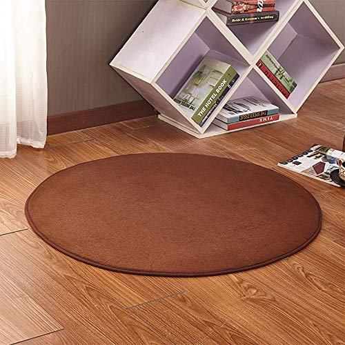Kids Play Tent Mat, Round Play Floor Mats Soft Coral Playhouse Mat Coral Carpet For Kids Tent Playhouse Indoor Outdoor Fun 0927 (Color : Dark brown, Size : 160CM/62.99inch)