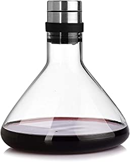 AjoliHome Wine Decanter Lead-Free Wine Aerator For Enhanced Flavor 1000ml Carafe Made Of Crystal Glass/Gift For Wine Enthusiasts (Glass)