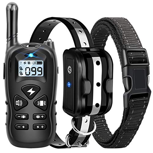 Dog Training Collar, Shock Collar for Dogs with Remote, Rechargeable Dog Shock Collar, with...