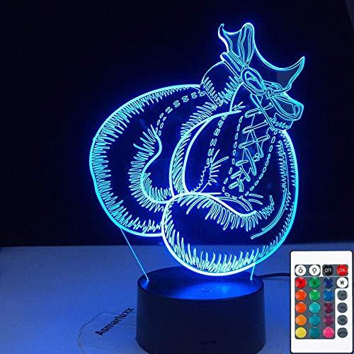 3D Symphony Lights LED Nachtlicht Boxhandschuhe Fernbedienung Touch Vision 3Aa Batterie USB Tischlampe Bestes Geburtstagsgeschenk für Kinder