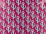 Swafing Laminierte Baumwolle Cactus Blossom pink by Jolijou