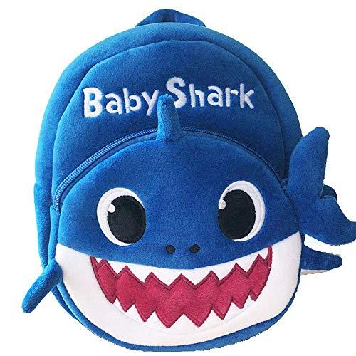 J&K Baby shark nursery school bag for kids Baby shark backpack Blue