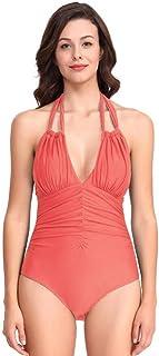 ZPTAT 水着の女性の純白が痩せています。,オレンジ,XL