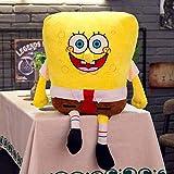 XINRUIBO Bob l'éponge géant étoile Bob l'éponge en Peluche Jouets Pillow Doll Enfants de Noël Cadeaux d'anniversaire 55CM bob Eponge