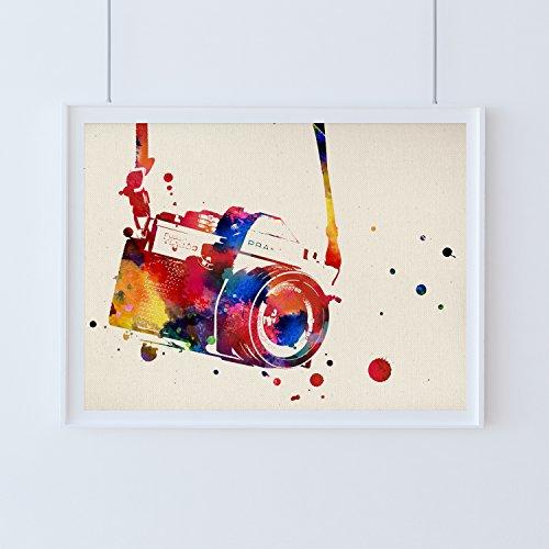 Nacnic Lámina para enmarcar Cámara fotográfica Acuarela Poster Decorativo para la Pared a Estilo Acuarela. Papel 250 Gramos