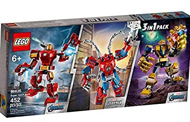 Lego Super Heroes Tri-Pack 3 Sets Included: Iron Man, Thanos, & Spider-Man (66635)