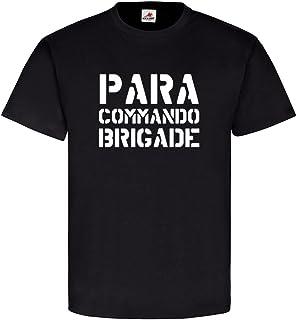 Copytec Para Commando Brigade Bélgica Paracaidista Aire Bajos Unidad Ejército Belga Ejército Nadadores Regiment Congo SAS Commandos miltär–Camiseta # 11159