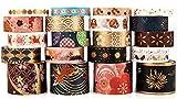Washi Tape Set de 20 rollos de cinta adhesiva decorativa para el arte y el bricolaje, embellece los cuadernos de pelota, Scrapbooking, Planificadores, Diarios, Decoración de Regalos (rojo)