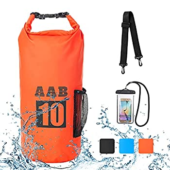 AAB Waterproof Dry Bag Backpack 10L/20 L with Phone Case-Floating Dry Sack with Adjustable Shoulder Strap Waterproof Bag for Kayak Water Sports Kayaking Rafting Boating Beach Gifts for Men and Women