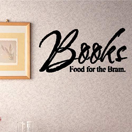 yuandp Muurstickers voor boeken, eten, voor de hersenen van vliegtuig, letters, decoratie, accessoires, wanddecoratie 88 x 44 cm