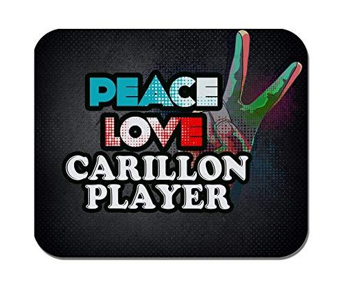 Rae Esthe Makoroni - Peace Love Carillon Player Music - Goma Antideslizante - Mousepad para computadora, Juegos, Oficina
