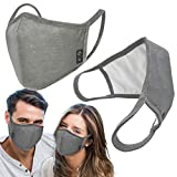 3-Layers Unisex Washable Reusable Cover - Triple Layered Cover for Dust Particle & Droplet Protection - Dust Warm outdoor Cover Grey - Ship From USA