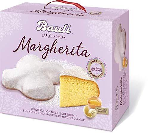 Bauli Colomba Pasquale - Pastel Artesanal de Pascua con Ingredientes Tradicionales y Excelente Calidad de Made in Italy (600 gr, La Colomba Margherita)