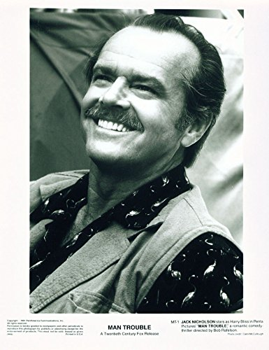 MOVIE PHOTO: Man Trouble-8X10 B&W Photo-Jack Nicholson head shot FN
