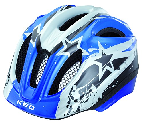 KED Fahrradhelm Meggy, Blue Stars, 49-55 cm, 15409119SM