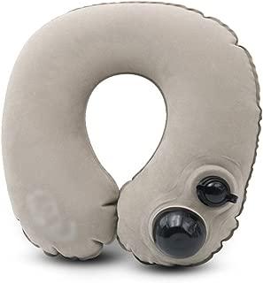 Travel pillow U-Shaped Pillow Inflatable Pillow Men and Women Neck Pillow Travel Portable Train Plane Sleeping Cervical Pillow (Color : Gray, Size : 31 * 31 * 8.5cm)