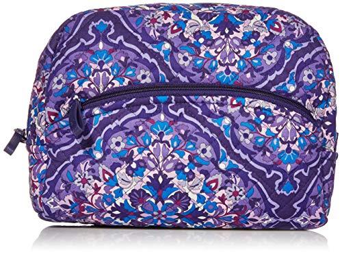 Vera Bradley Women's Signature Cotton Cosmetic Makeup Organizer Bag, Regal Rosette, Medium