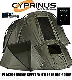 CyprinusTM Pleasure Dome Carp Fishing Bivvy Tienda de campaña Refugio + 2017 Carpología Rig Guide