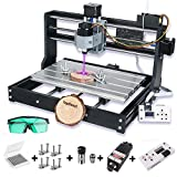 2-in-1 5500mw Laser Engraver CNC 3018 Pro Engraving Machine, GRBL Control 3 Axis Mini CNC Router Kit + Offline...