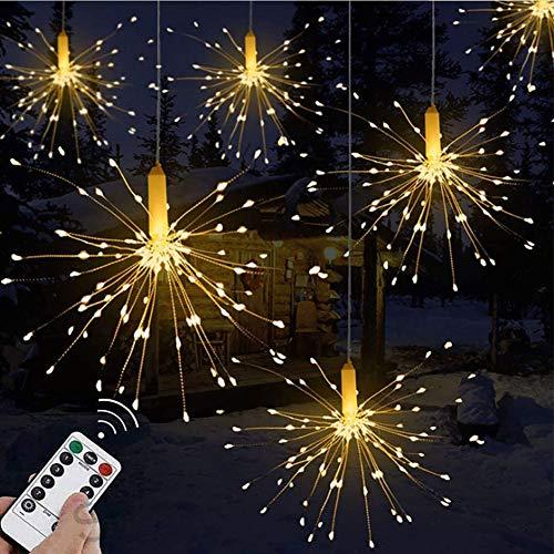 Towinle LED Lichterkette Feuerwerk Lichterketten Weihnachten LED Dekoration Weihnachtslichterkette Batteriebetrieben Fernbedienung (120 Lichter)