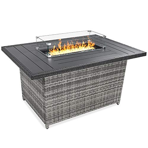 Best Choice Products 52in Gas Fire Pit Table, 50,000 BTU...