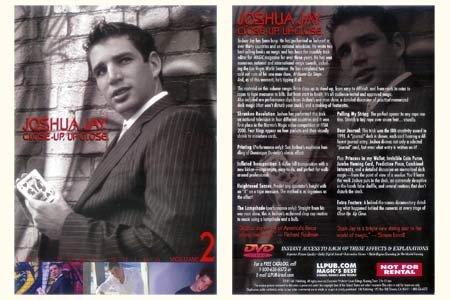 Close-Up, Up Close Vol #2 by Joshua Jay - DVD