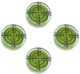 4 Pack Bubble Spirit Level Degree Mark, 32x12mm Circular Bullseye Level Measuring Instruments Spirit Level, Use for Tripod, Phonograph, Turntable ,etc.(32x12mm)